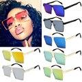 Outeye 2017 mulheres óculos de sol óculos quadrados único oversize uv400 óculos frames oculos de sol do vintage gradiente