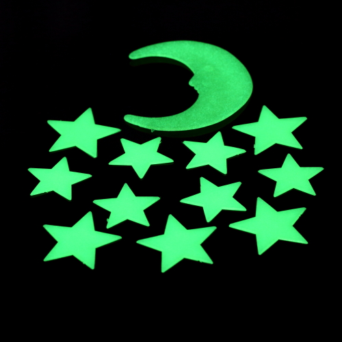3 sets 36pcs Amazing Glow in Dark Luminous Cartoon Moon Star Nursery Baby Room Home Decor Wall Stickers for Kids Rooms Decal