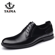 New Arrival Top Quality Men Genuine Leather Dress Shoes Business Men Oxfords Classical Gentleman Shoes Brand TAIMA 40-45