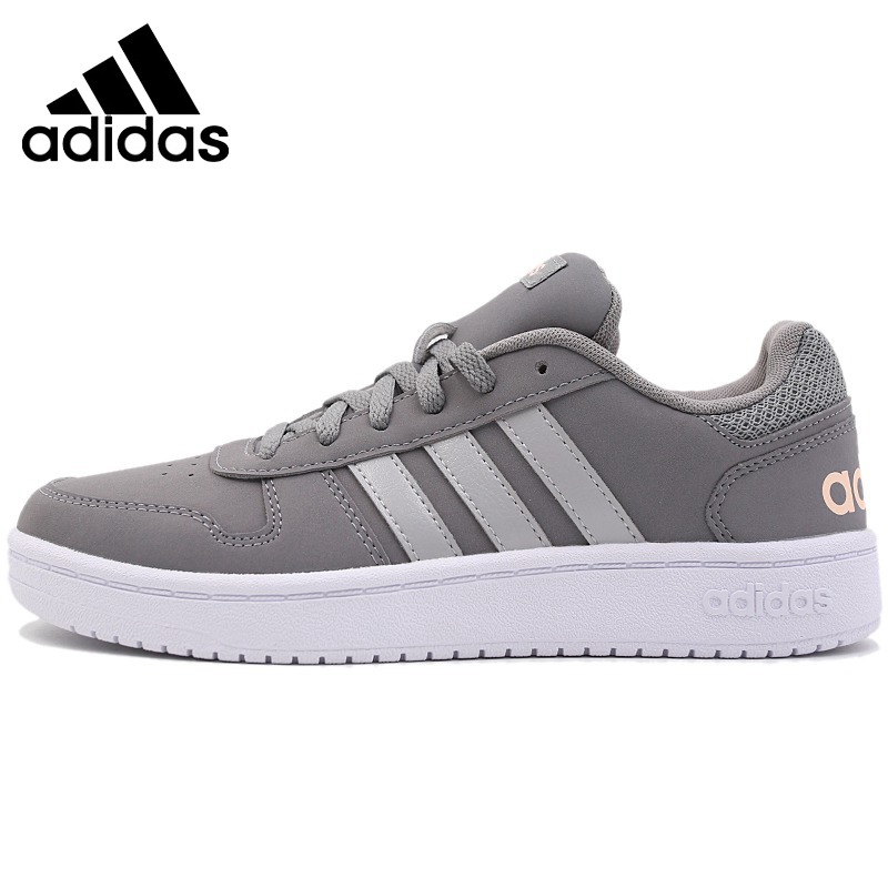 Original authentic 2018 Adidas NEO Label HOOPS women's classic skateboard shoes comfortable breathable sports shoes wear B96299-