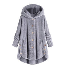 Casual Women Autumn Winter Parka Outerwear Loose Double-Sided Plush Hoodie Coat Female Plus Size Artificial Fur Coats Jacket New(China)