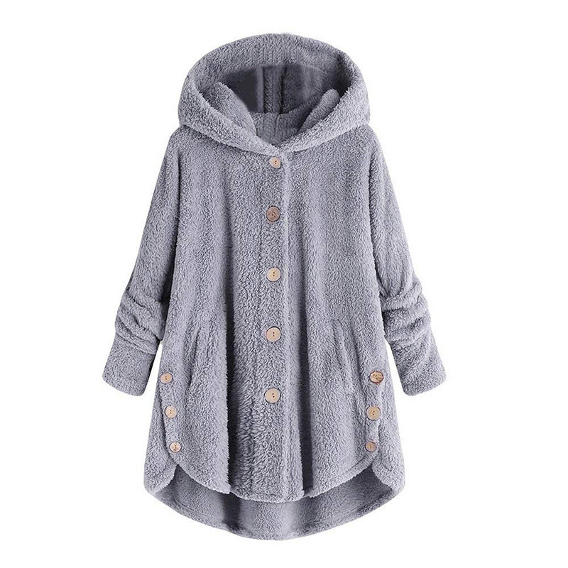 Casual Women Autumn Winter Parka Outerwear Loose Double-Sided Plush Hoodie Coat Female Plus Size Artificial Fur Coats Jacket New
