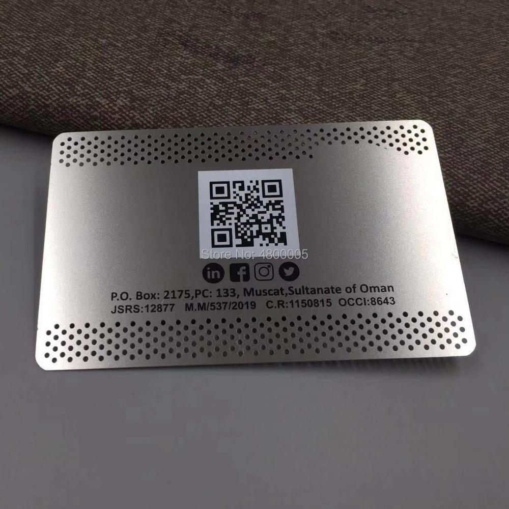 QR Code Stainless Steel Metal Business Card