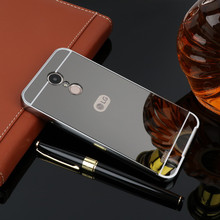New For LG K10 2017 Case Luxury Protective Gold Aluminum Mirror Back Cover Phone Case For LG K10 2017 M250 coque Fundas смартфон lg k10 2017 m250 gold