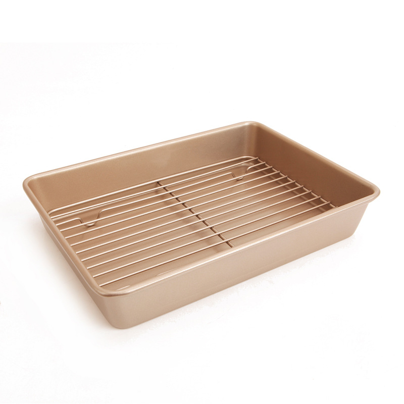 Chef Made 13 Inch Bundt Cake Baking Pan Cooling Rack Deepen Nonstick Baking Dish Combination Bakeware Baking BakingChef Made 13 Inch Bundt Cake Baking Pan Cooling Rack Deepen Nonstick Baking Dish Combination Bakeware Baking Baking