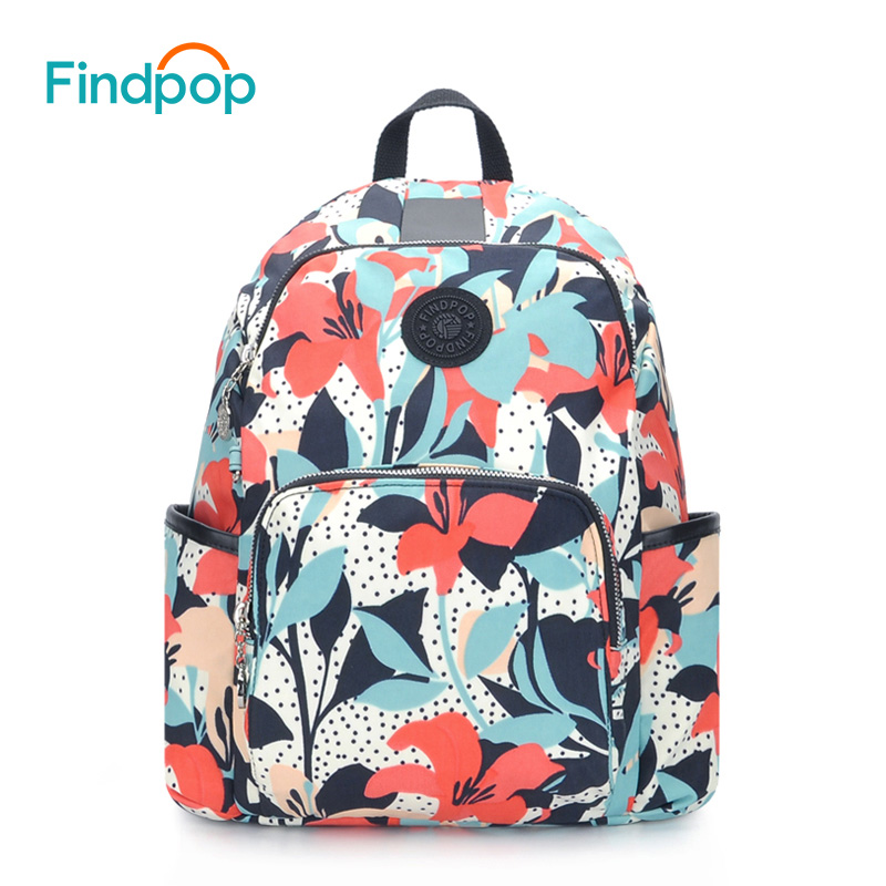 Findpop Floral Women Backpack Canvas Mochila School Bags For Teenager Printing Backpack 2017 Large Capacity Anti-Theft Backpacks men backpack student school bag for teenager boys large capacity trip backpacks laptop backpack for 15 inches mochila masculina
