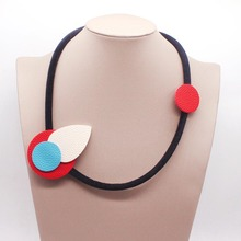 D&D New Leather Necklaces Statement Necklace Dual Purpose  Acrylic Collar Geometry Fashion Party