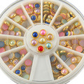 Новые Приходят Мода Раскрашенная Стразы Для Ногтей Золото Сплава Nail Art Блеск Шпильки Наклейки Украшения