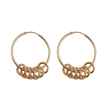 Europe and the United States temperament simple geometric circular ear ring hip-hop tide female fashion jewelry earrings