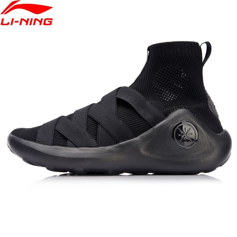 Li-Ning Men Wade Essence R Basketball Culture Shoes Sock-Like Sneakers Breathable Light Sports Shoes AGWN023 XYL141 li ning brand men basketball shoes sonicv series professional camouflage sneakers support lining breathable sports shoes abam019