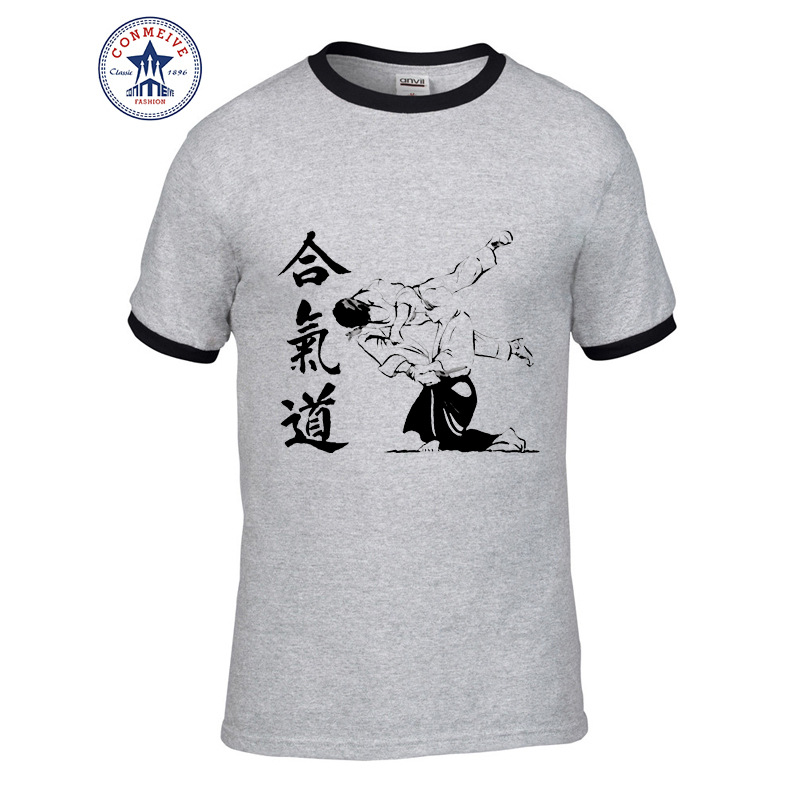 HTB1uW0rhm3PL1JjSZFtq6AlRVXao - t shirt aikido 2017 Teenage Youth Funny Cotton for men
