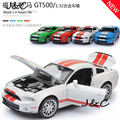 Free Shipping 1:32 mustang Metal Alloy Diecast Toy Car Model Miniature Scale Model Sound and Light Emulation Electric Car