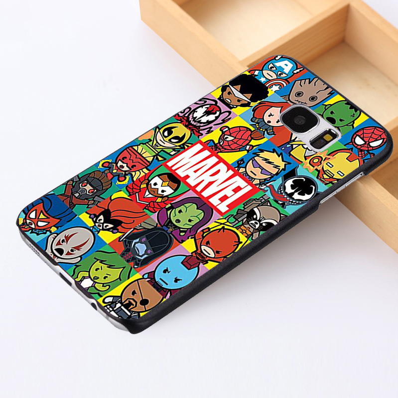 for Samsung Galaxy S3 S4 S5 mini S6 S7 S8 edge plus Note2 3 4 5 phone case cover Marvel Characters Collage Kawaii Chibi Avengers