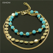 New style anklets jewelry simple glass beads anklets for women beach foot jewelry foot jewelry barefoot sandals chaine cheville