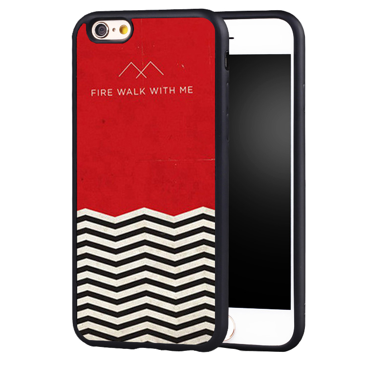 Red WELCOME TWIN PEAKS Soft Silicone Full Protective case Cover For iPhone X 8 7 7Plus 6 6S Plus 5 5S SE