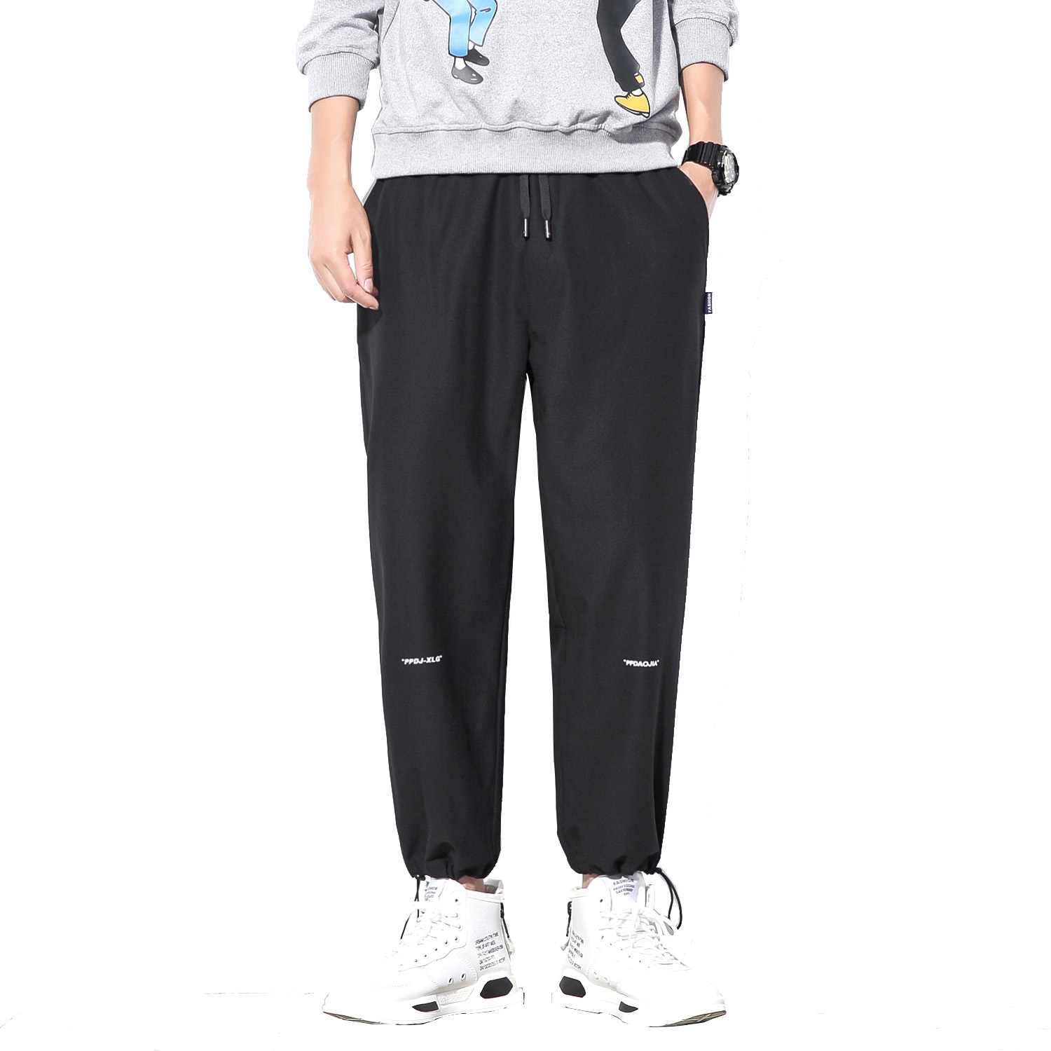 FAVOCENT Harem Pants Trousers Jogger-Pockets Cargo Streetwear Loose Men's Summer Casual