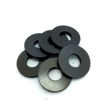 100 Tattoo Machine Washer Double Thick Black Fiber Coil Core Washers, Binder Parts