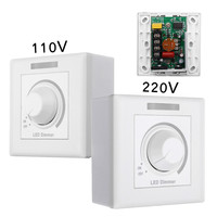 Max 150W Wall Dimmer Switch LED Dimmer With 12 Keys IR Remote Control For Dimmable Light