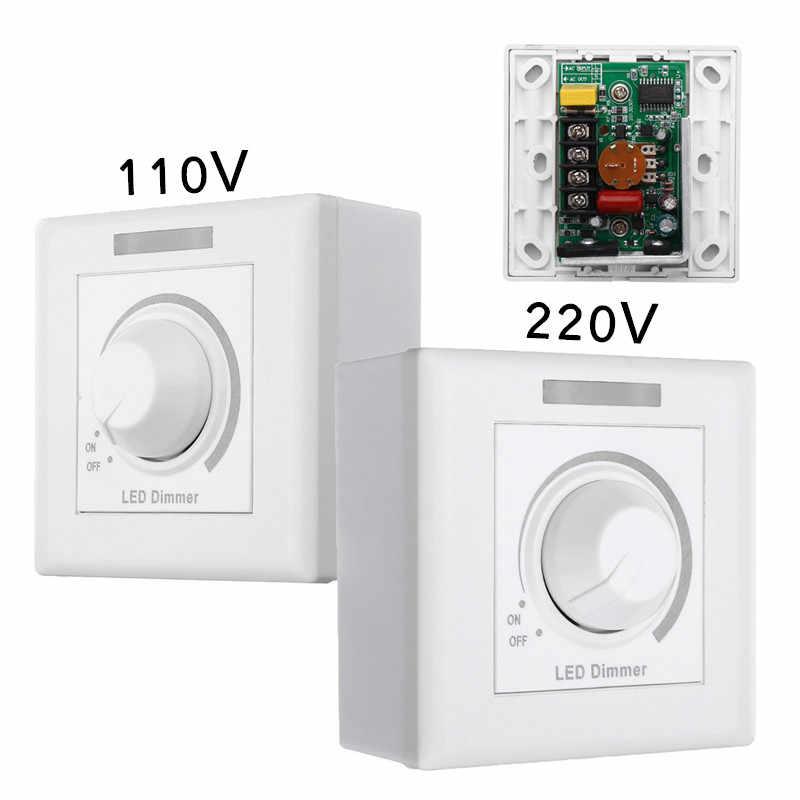 Max 150 Вт стены диммер светодио дный диммер с 12 Ключи ИК-пульт дистанционного Управление для затемнения свет лампы 110 В/220 В