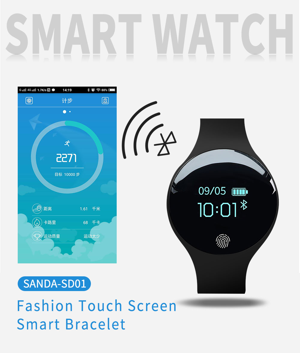 Reloj inteligente podómetro Bluetooth 1