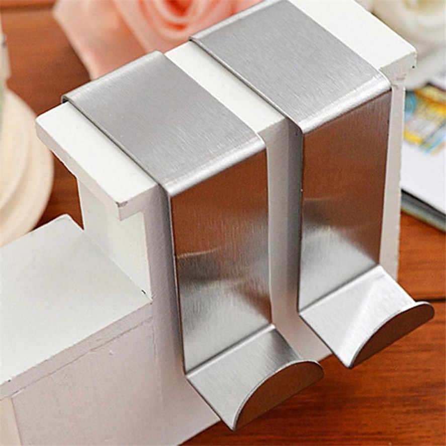 Nova 2 PC Multifuncional Inoxidável Porta Gancho Cabide Do Armário de Cozinha Cozinha quarto banheiro Ganchos de Alta Qualidade