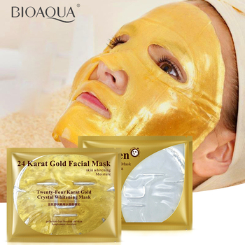 24k gold facial mask / collagen essence face mask crystal masks repair dry skin whitening hyaluronic acid moisture its skin care Facial mask
