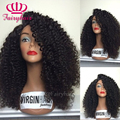 180% density Heat resistant synthetic lace front wig Afro kinky curly lace front wig for black women curly lace wigs