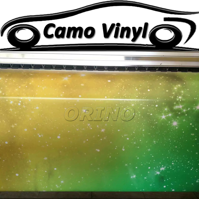Luxurious Motorcycle Truck Car Body Wrap Cover Sticker Starry Galaxy Star Vinyl Foil Film Size