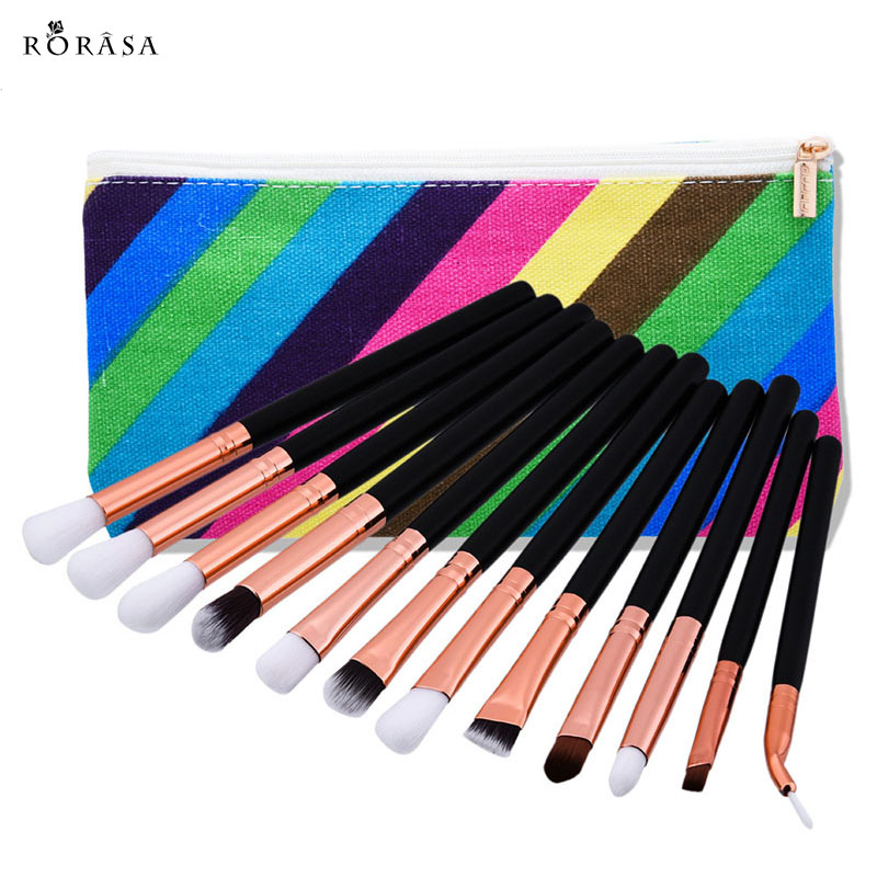 12Pcs/Set Makeup Brush Powder Blush Foundation Cosmetic Fish Brush Makeup Tools Eyeshadow Face Eyes Cosmetic Make Up Brushes 30 professional cosmetic soft 12pcs makeup brushes 200 set eyeshadow blush foundation brush set make up tools for girl