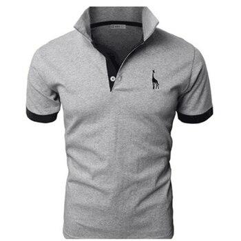 TJWLKJ Men Clothes 2019 Top Tees Men Polo Shirt 5xl Fawn Pattern Short Sleeve Polo Shirt 13Color Cotton Slim Polos Para Hombre