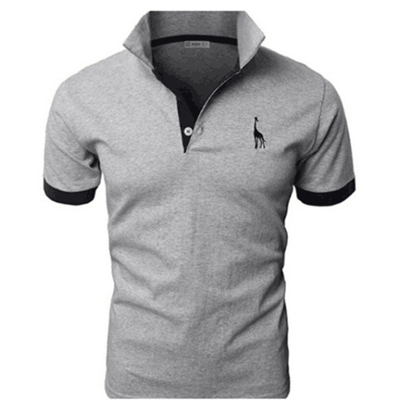 TJWLKJ Men Clothes 2019 Top Tees Men   Polo   Shirt 5xl Fawn Pattern Short Sleeve   Polo   Shirt 13Color Slim   Polos   Para Hombre