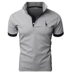 368fec7c7df TJWLKJ ropa de hombre 2019 camisetas Top hombres Polo camiseta 5xl Fawn  patrón de manga corta