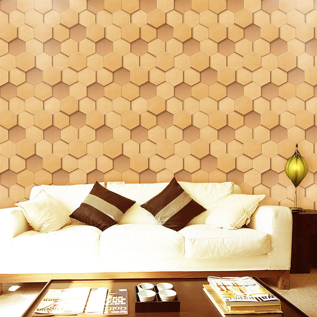 Modern PVC Wallpapers for Walls 3D Mosaic Wall Papers For Living ...