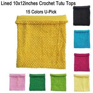 10x12 polegadas tubo top vestido tutu tops tubo De Crochê forrado para as meninas pettiskirt tutu encabeça 10 pcs por Lote