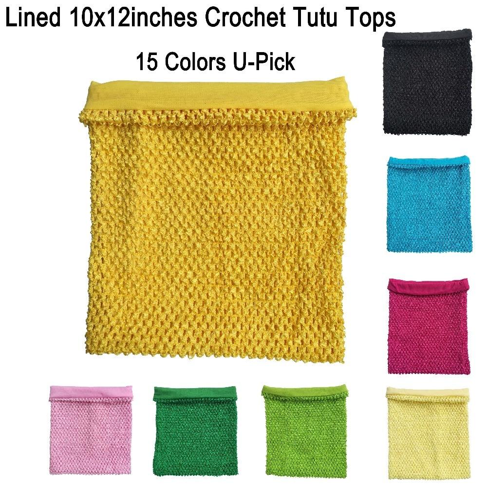 10x12inches foret Hæklet tube top tutu kjole rør toppe til små piger pettiskirt tutu toppe 10 stk per lot