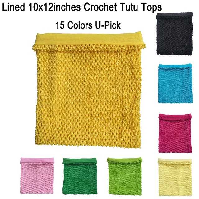 10x12inches Lined Crochet Tube Top Tutu Dress Tube Tops For Little