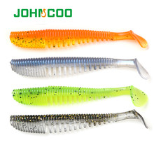 JOHNCOO UV Fishing Lure Soft Baits 10pcs 85mm 2.8g Shad Carp Fishing Iscas Artificial Vivid Worm Swimbait Minnow Fishing Tackle(China)