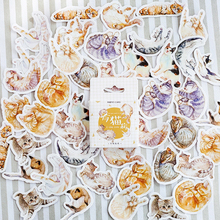 45pcs/pack Kawaii Cat Mini Paper Scrapbooking Sticker DIY Diary Decorative Sticky  Sealing Label