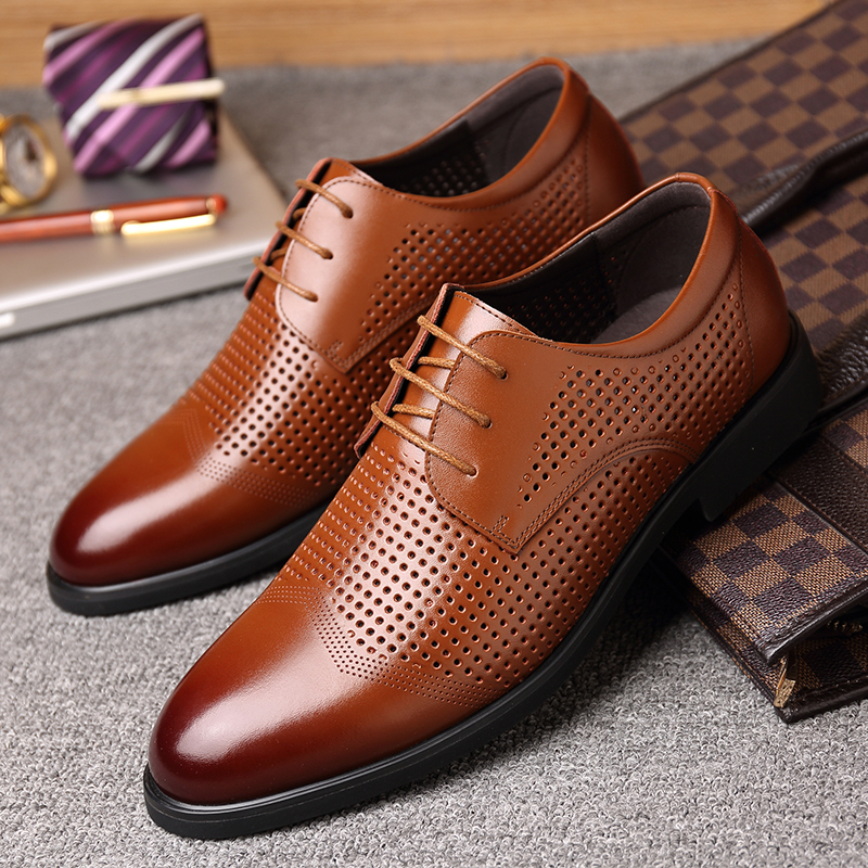 Couro Baixos Respirável Bj3677bl Osco Dos Vestido Banquete Sapatas Sapatos Dividir Oxford Negócios bj3677br De Casamento Homens PR6P1