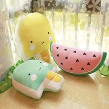 漫画スイカ/アイスクリーム落ち着かクッション睡眠のための子供の部屋のインテリア子供クリスマスギフトかわいいソフトシートバッククッション