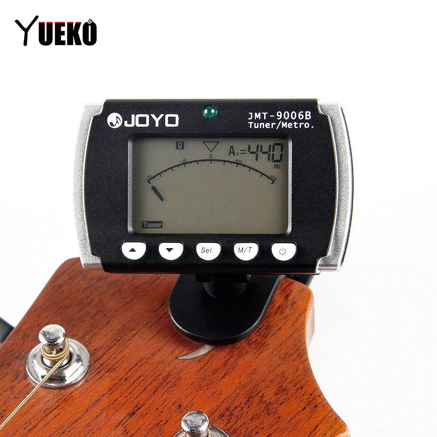 yueko guitar tuner jmt 9006b digital clip on tuner metronome tuning for chromatic guitar bass. Black Bedroom Furniture Sets. Home Design Ideas
