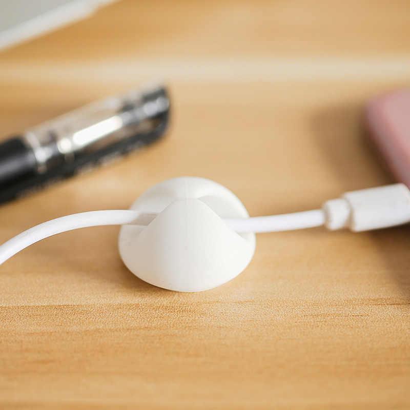 Cable Universal de abrazadera para La devanadora protector de auriculares organizador Cable escritorio fijador titular de la línea de datos ordenado RECOPILACIÓN DE GESTIÓN DE