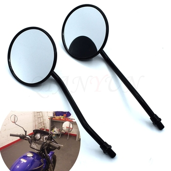 1 double circular motorcycle mirror universal 10 mm motorcycle rearview mirror For BMW K1600 K1300 K1200R K1200S R1200RT R1200ST image