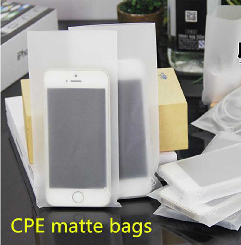 1000pcs New material CPE heat sealing plastic packaging bags Arenaceous plastic package phone Electronic components pouches