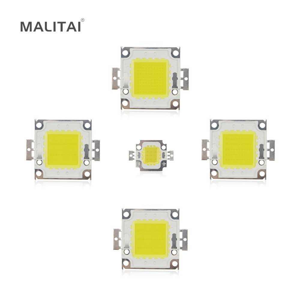 High Power 10W 20W 30W 50W 100W COB LED Chip SMD DC 9V 30V 36V Integrated Diode 10000lm LED lamp Chip light Beads DIY Floodlight high quality 730nm 740nm ir led chip 10w 20w 30w 50w 100w led lamp epileds led chip for detecting sensor laser flashlight