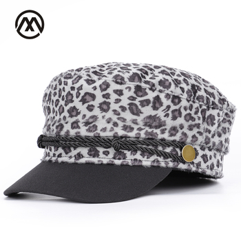 Ladies new autumn and winter warm military caps outdoor men and women general fashion leopard classic hats female high quality