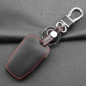 Image 5 - Jingyuqin 4 כפתורי עור רכב מפתח מקרה עבור 2013 2014 2015 יונדאי סנטה FE IX45 בראשית EQUUS AZERA keyless רכב אבזרים
