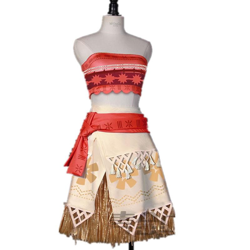 Summer Women Moana Cosplay Costume  Princess Moana  Beautiful Show/Party Dress/Dance Dress CS356201