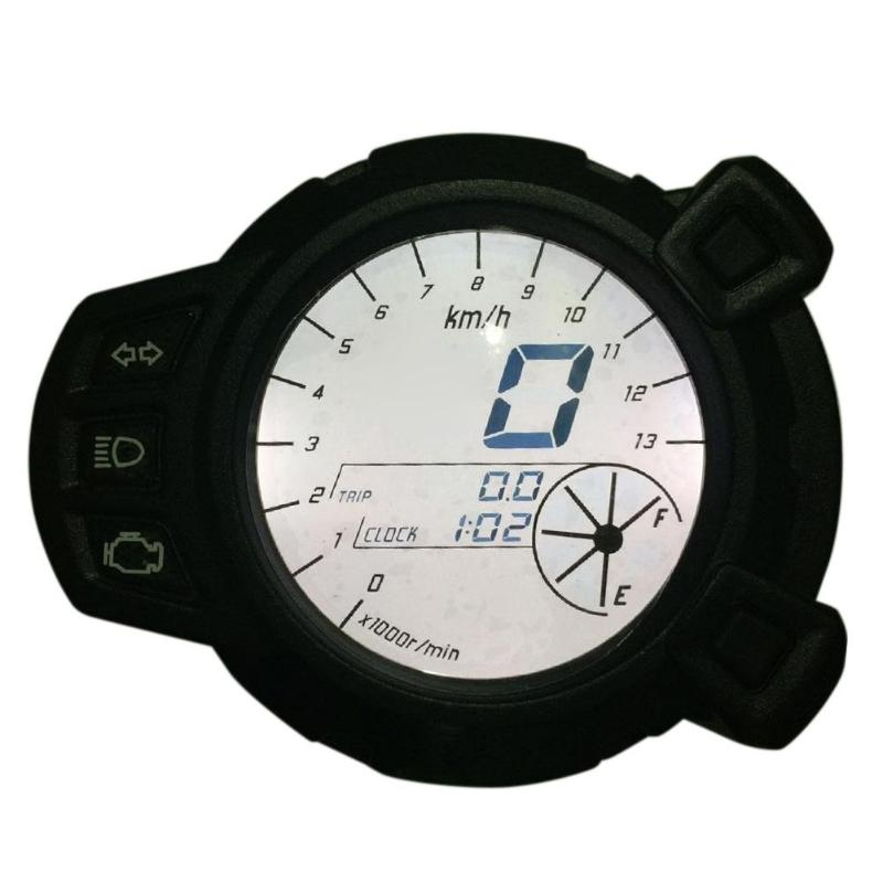Motorcycle LCD Digital Display Speedometer Tachometer Odometer 7 Color Oil Level RPM Speed Meter Instrument For Yamaha BWS125 чехол для iphone 5 5s объёмная печать printio орео