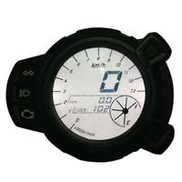 Motorcycle LCD Digital Display Speedometer Tachometer Odometer 7 Color Oil Level RPM Speed Meter Instrument For Yamaha BWS125